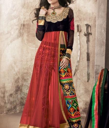 85701096a0 Anarkali Suit with Palazzo Pant in Chandigarh, Chandigarh - ROOJHAN ...