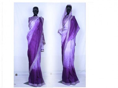 Purple Solid Saree