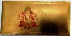 Gold Plated Ganesha Envelopes
