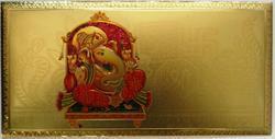 Gold Plated Shri Ganesha Envelopes