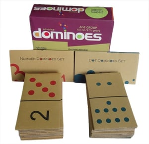 Advance Dominoes : Learn Identification And Value Matching