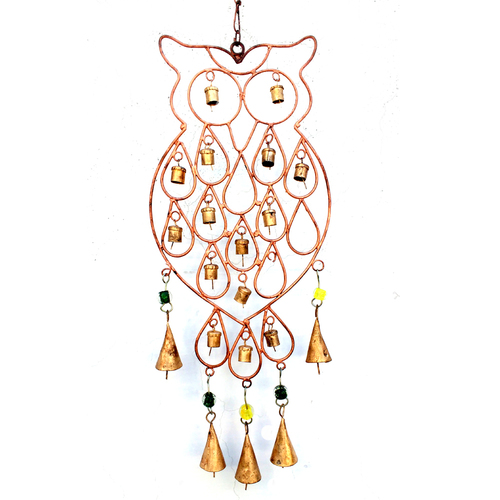 Owl Iron Hanging Bell