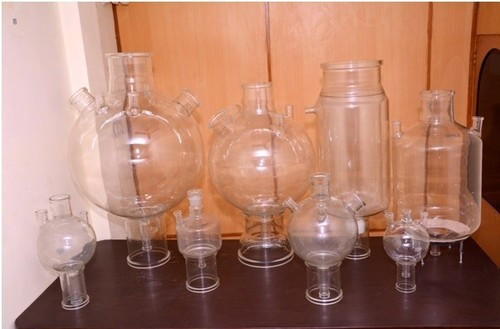 Glass Spherical And Cylindrical Vessels