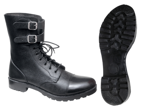 High Ankle Leather Boots Dms With Buckle Straps