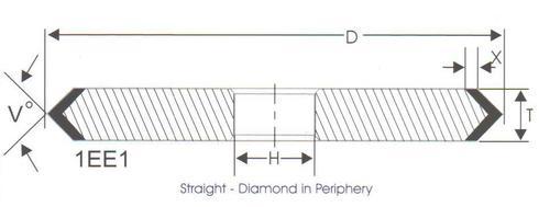 1EE1 Resin Bonded Diamond Wheels