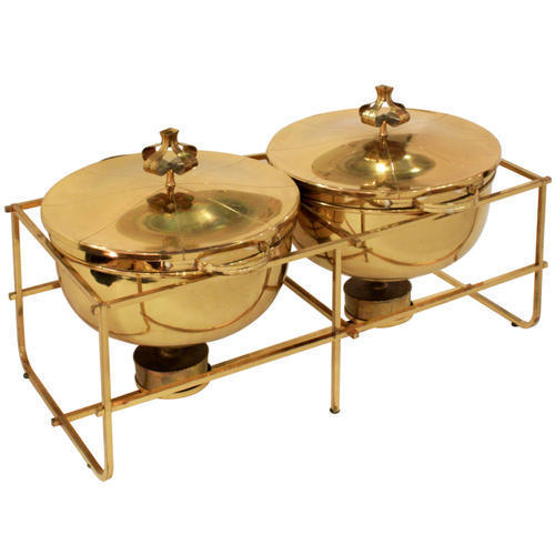 Double Brass Chafing Dish