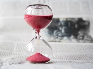 Hour Glass With Colored Sand