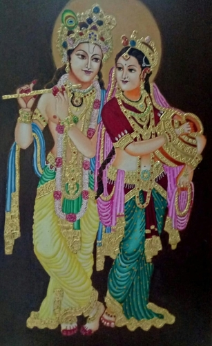 24 Carat Gold Vrindaban Painting