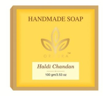 Handmade Glycerin Sugar Soap Haldi And Chandan - Orgera Herblines