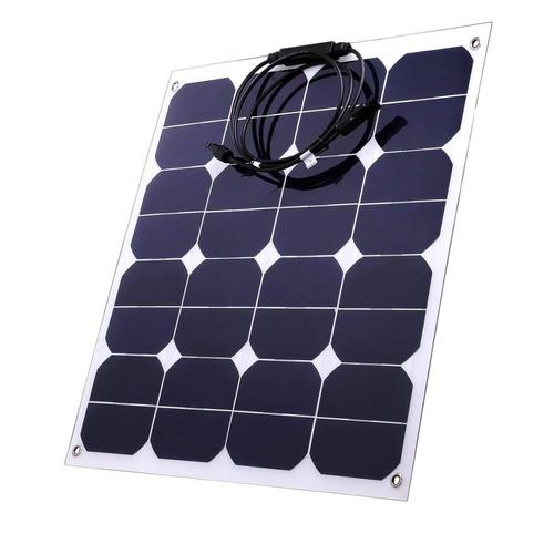 100W 50 W 18V Sunpower Semi Flexible Solar Panel Charger Bendable Solar Module