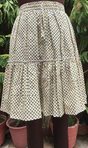 Fashionable Printed Cotton Skirt