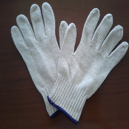 Poly Cotton Gloves 400 Gr Raw White