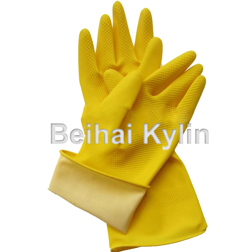 110G Yellow Latex Household Safety Glove