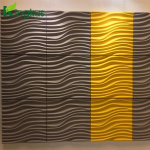 3D PET Acoustic Panel Embossed Polyester Panel