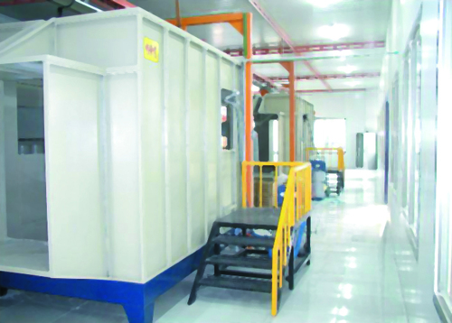 Industrial Electrostatic Paint Spraying Powder Coating Service In