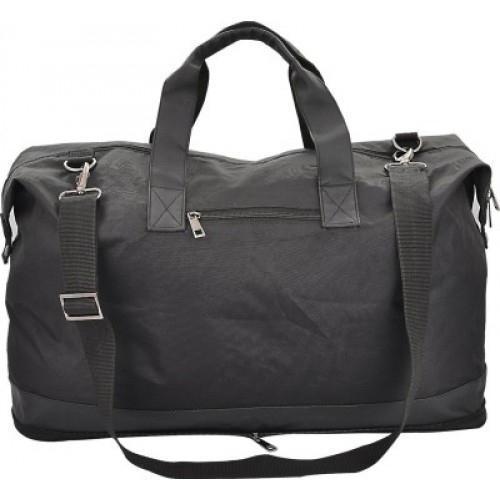 Plain Black Foldable Travel Bag