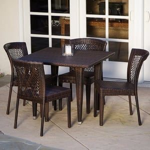 Aluminum Wicker Chair And Table Set