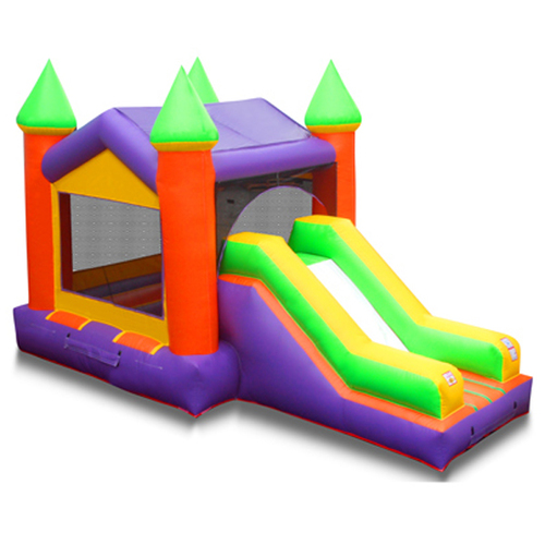 4*5.5M Lovely Football Inflatable Castle Durable