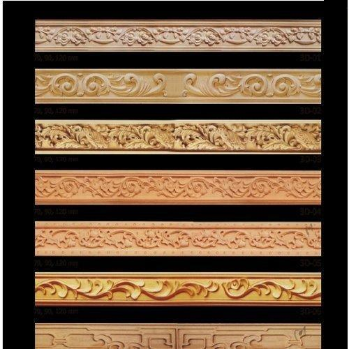 Anti Scratch Brown Wooden Mouldings (66V)
