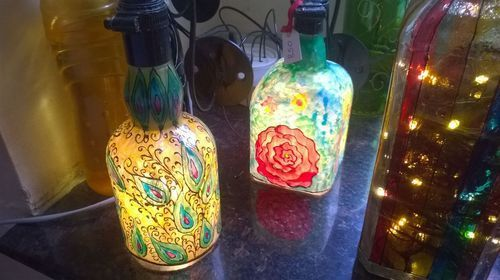 Multicolor Hand Painted Lamp Shade