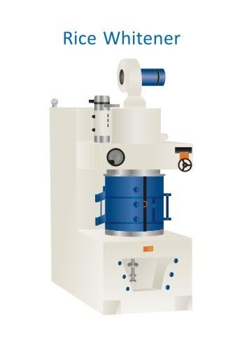 Heavy Duty Rice Whitener Machine