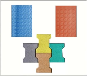 Colorful Rubber Floor Tiles