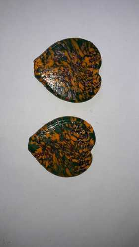 Glass Heart Shaped Beads