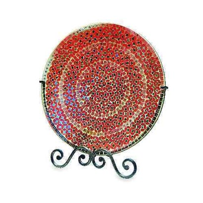 Red Beautiful Design Easel Plate