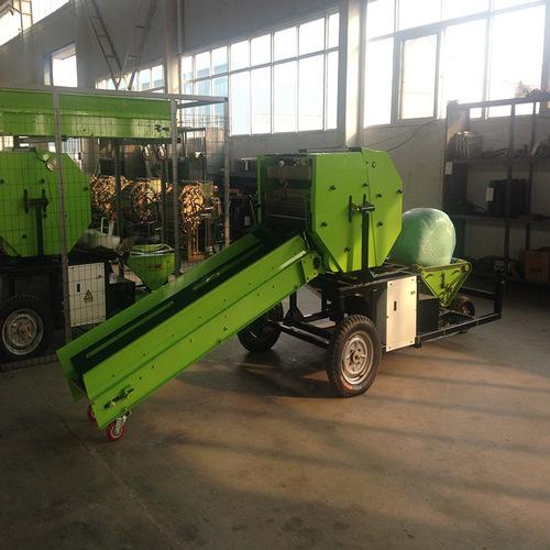 Semi Automatic Corn Silage Round Baling Machine