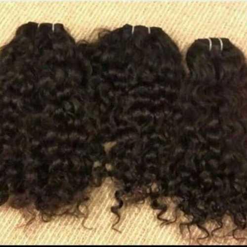 Natural Black Curly Human Hair