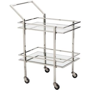 Shiny Stainless Steel Trolley