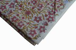 Hand Block Printed Cotton Floral Sanganeri Jaipuri Mughal Fabric