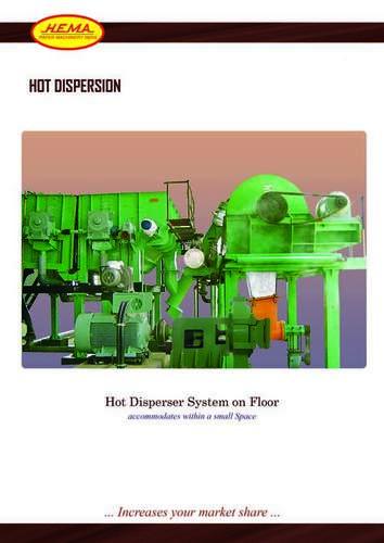 Hot Dispersor For Waste Paper