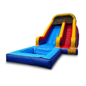 4*7*4m Giant Commercial Double Lanes Inflatable Water Park Slide