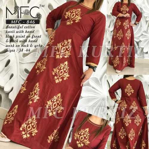 Designer Ladies Cotton Kurtis