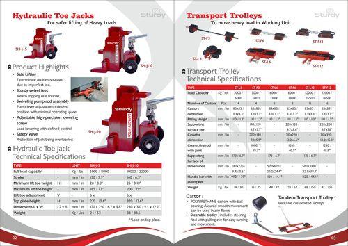 Hydraulic Toe Jacks Material: Iron