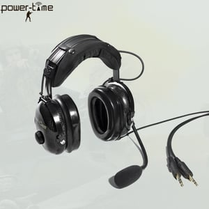 Jet Pilot Aircraft Headset Earphone with Air Cushions
