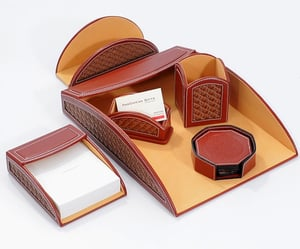 Leather Office Table Top Accessories