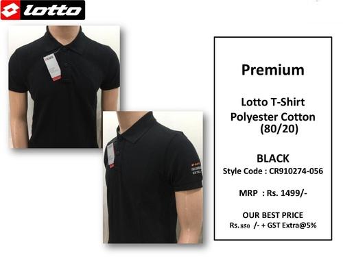 Premium Pc Black T Shirt Cr910274-056 (Lotto)
