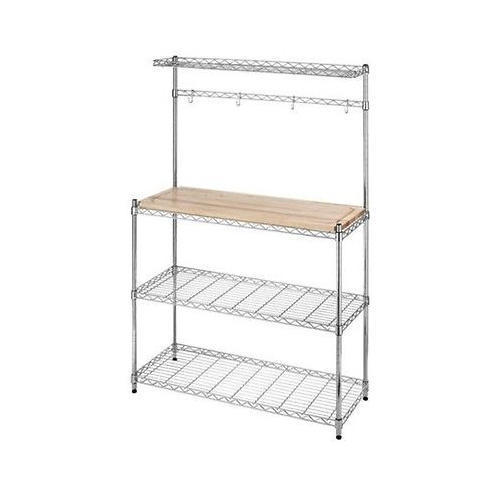 Work Station With Storage Racks