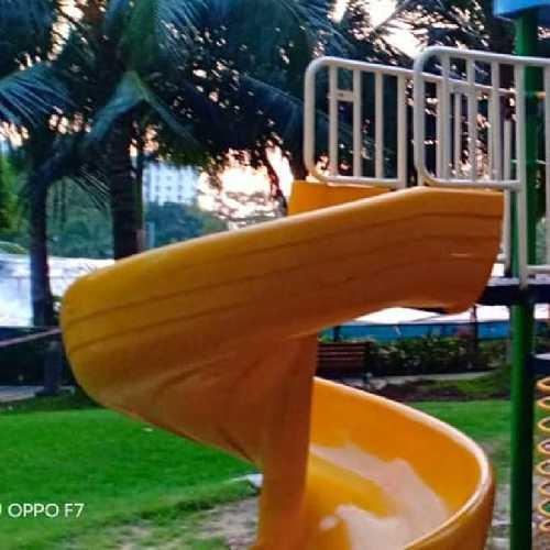 Outdoor Park Spiral Slide