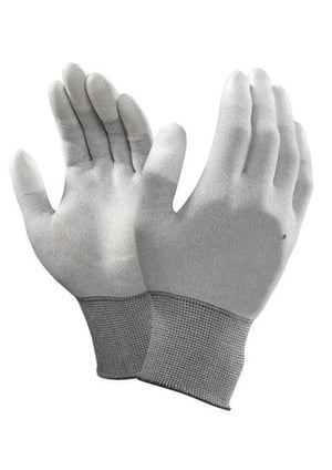 ESD Safe Anti Static Fingertip PU Coated Top Fit Gloves