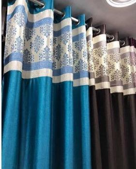 5 Feet Designer Damas Patch Curtains