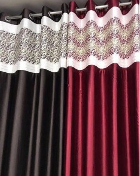 7 Feet Designer Bail Patch Curtains