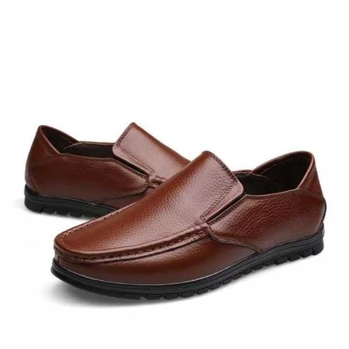 Mens Without Lace Leather Shoes