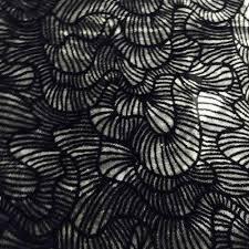 Black Printed Fabric