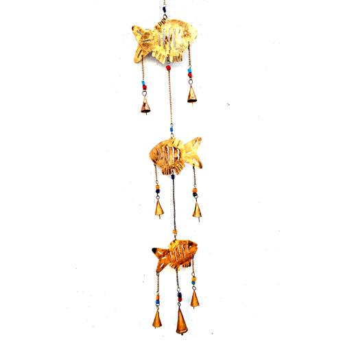 Golden Fish Designed Hanging Bell