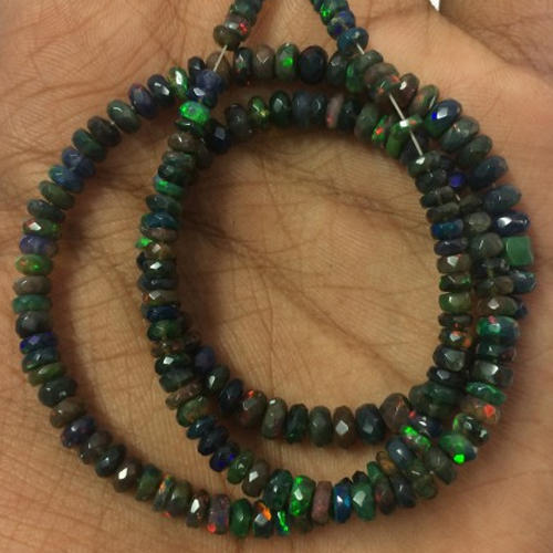 Ethiopian Black Opal Beads