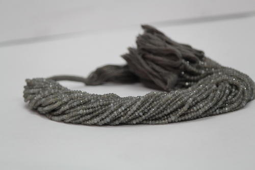 Natural Gray Moonstone Faceted Rondelle Beads