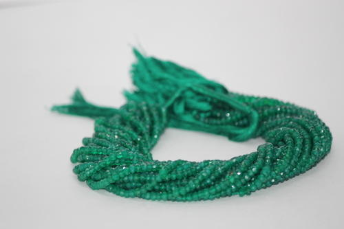 Natural Green Onyx Faceted Beads